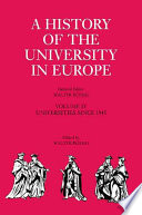 A History of the University in Europe  Volume 4  Universities since 1945