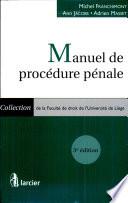 Manuel de procédure pénale