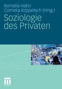 Soziologie des Privaten