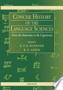 Concise History of the Language Sciences
