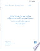 Social interactions and student achievement in a developing country: An instrumental variables approach