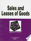 Sales and Leases of Goods in a Nutshell  4th