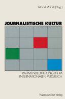 Journalistische Kultur