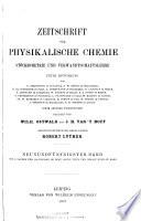 Zeitschrift f  r physikalische Chemie