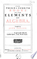 The Elements Of That Mathematical Art Commonly Called Algebra