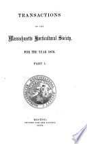 Transactions of the Massachusetts Horticultural Society