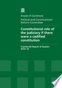 HC 802   Constitutional Role of the Judiciary if There Were a Codified Constitution