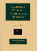 California Workers  Compensation Handbook 2014