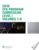 Cfa Program Curriculum 2018 Level I