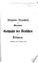 Jahresbericht des Vereins für Geschichte der Deutschen in Böhmen
