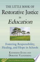 The Little Book of Restorative Justice in Education Book PDF
