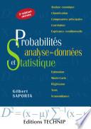 illustration du livre Probabilités, analyse des données et statistique