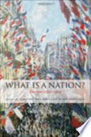 What Is a Nation