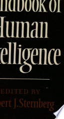 Handbook of Human Intelligence