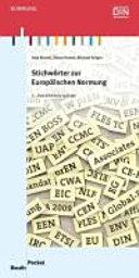 Stichwörter zur Europäischen Normung
