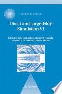 Direct and Large Eddy Simulation VI