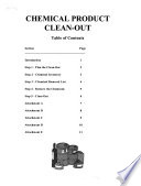 Chemical Product Clean Out Protocol