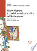 Nuove ricerche su codici in scrittura latina dell Ambrosiana