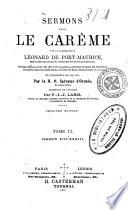 Oeuvres complètes du bienheureux Léonard de Port-Maurice ... publiées d'après les originaux conservés dans les archives du couvent de Saint-Bonaventure, à Rome, et précédées de sa vie