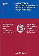 Aspekte des Nationalsozialismus in Gedichtbänden des Jahres 1980