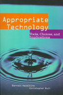 Appropriate Technology book