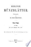 Berliner Münzblätter