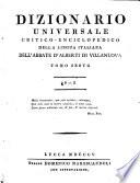 Dizionario universale critico enciclopedico della lingua italiana