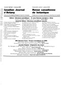 Canadian Journal of Botany