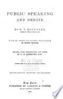 Public Speaking and Debate