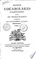 Nuovo Vocabolario Italiano-Tedesco