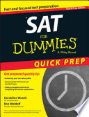 SAT For Dummies  2015 Quick Prep Edition