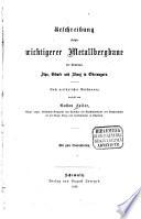 Beschreibung einiger wichtigerer Metallbergbaue der Komitate Zips, Gömör und Abauj in Oberungarn