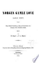 Norges gamle love indtil 1387