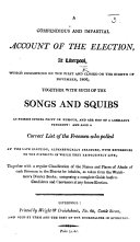 download ebook a compendious and impartial account of the election, at liverpool ... 1806, together with such of the songs and squibs as possess ... point or humour, and are not of a libellous tendency: and also a correct list of the freemen who polled, etc pdf epub