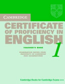 Cambridge Certificate of Proficiency in English 1