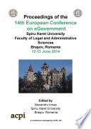 Proceedings of the 14th European Conference on e Government