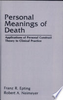 Personal Meanings Of Death : & francis, an informa company....