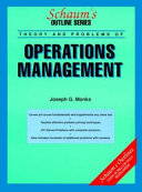 Schaum s Outline of Theory and Problems of Operations Management