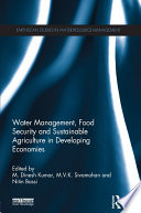 Water Management  Food Security and Sustainable Agriculture in Developing Economies