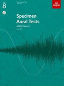 Specimen Aural Tests  Grade 8  with 2 CDs