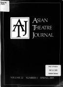 Asian Theatre Journal