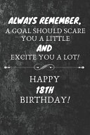 Always Remember A Goal Should Scare You A Little And Excite You A Lot Happy 18th Birthday