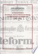Antisemitismus Im Spiegel Der Hamburger Presse W Hrend Des Kaiserreichs 1884 1914