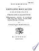 Decamerone     corretto ed accresciuto della vita dell autore     da Vincenzio Martinelli