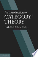 An Introduction To Category Theory book