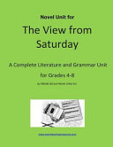 Novel Unit For The View From Saturday book