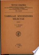 Tabellae Mycenenses Selectae