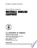 Export Opportunities for Materials Handling Equipment Book PDF