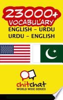 23000  English   Urdu Urdu   English Vocabulary