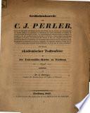 Gedächnißrede auf C. J. Perleb